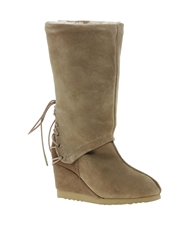Love From Australia Roxanne Wedge Boots Caramel
