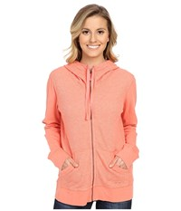 Carhartt Hayward Zip Front Hoodie Burnt Coral Heather Women's Sweatshirt Pink