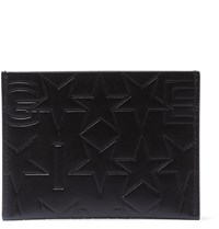 Givenchy Debossed Leather Cardholder Black