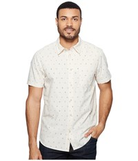 The North Face Short Sleeve Pursuit Shirt Vintage White Uncharted Print Men's Short Sleeve Button Up