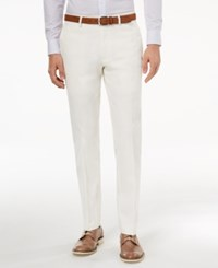 Bar Iii Men's Slim Fit Stretch White Solid Suit Pants Created For Macy's