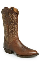 Men's Ariat 'Heritage R Toe' Leather Cowboy Boot
