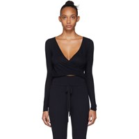 Live The Process Navy Wrap Top