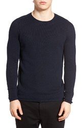 Boss Orange Men's Kusvet Cotton Sweater Navy