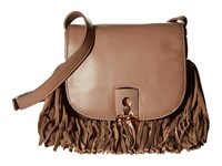 Botkier Clinton Fringe Crossbody Chai Cross Body Handbags Brown