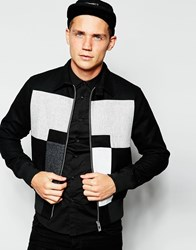 Han Kjobenhavn Han Jacket With Colour Block Black