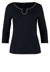 Comma Long Sleeved Top Dark Blue