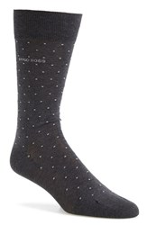 Men's Boss 'Frank' Dot Socks Grey Charcoal
