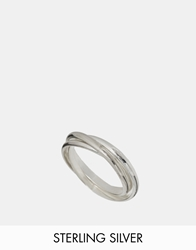 Asos Sterling Silver Russian Wedding Rings