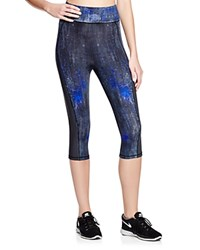 Elie Tahari Sport Emerson Cropped Abstract Print Leggings