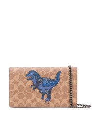 Coach Callie Rexy Clutch Neutrals