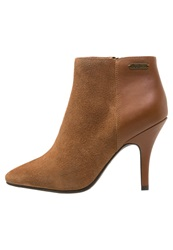 Pepe Jeans High Heeled Ankle Boots Nut Brown Light Brown