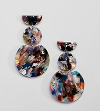 Accessorize Coloured Tortoiseshell Three Drop Earring Multi