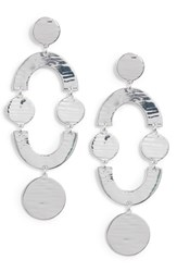 J.Crew Smile Dot Earrings Metallic Silver