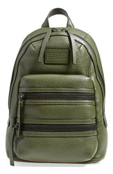 Marc By Marc Jacobs 'Domo Biker' Leather Backpack Green Spanish Moss