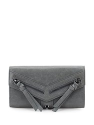 Botkier Trigger Flap Leather Continental Wallet Grey