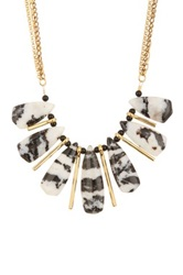 Janna Conner Jacqui Zebra Agate Necklace No Color