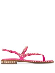 Ash Peps Studded Strappy Sandals Pink