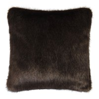 Helen Moore Faux Fur Treacle Cushion Brown