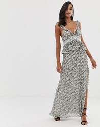 The Jetset Diaries Dazed And Confused Ruffle Maxi Dress Multi
