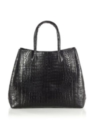 Nancy Gonzalez Large Convertible Crocodile Tote Taupe Green Grey Black Dark Brown Blue