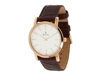 Bulova Mens Dress 97A106 Rose Gold Brown Watches
