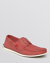 John Varvatos Star Usa Schooner Linen Boat Shoe Poppy