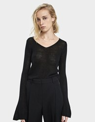Which We Want Rie Bell Sleeve Sweater Black