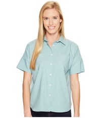 United By Blue Short Sleeve Crestone Shirt Teal Women's Clothing Blue