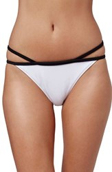 Women's Topshop Strappy Bikini Bottoms White Multi