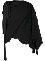 Valentino Wrap Around Asymmetric Top Black