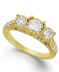 Trumiracle Diamond Three Stone Ring 1 Ct. T.W. In 14K White Or Yellow Gold