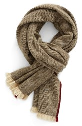 Hickey Freeman Men's Herringbone Cashmere Scarf
