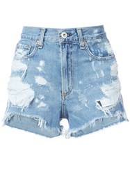 Rag And Bone Jean Justine Denim Shorts Women Cotton 30 Blue