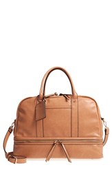Sole Society Mason Faux Leather Travel Satchel Brown Camel