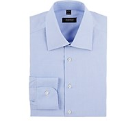 Barneys New York Men's End On End Shirt Blue