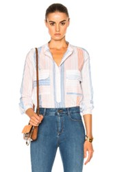 Stella Mccartney Striped Blouse In White Stripes White Stripes