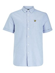 Lyle And Scott Short Sleeve Oxford Shirt Pool Blue