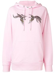 Kenzo Embroidered Hoodie Pink