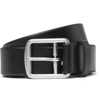 Polo Ralph Lauren 3.5Cm Black Leather Belt Black