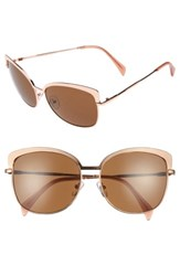 Draper James Women's 60Mm Cat Eye Sunglasses Shiny Rose Gold