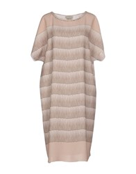 Andrea Incontri Dresses Knee Length Dresses Women Sand