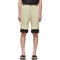 Ann Demeulemeester Off White And Black Levon Shorts