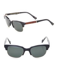 Shwood Newport 52Mm Acetate And Mahogany Sunglasses Brown