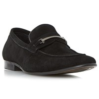 Dune Pistol Suede Loafers Black
