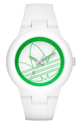 Adidas Women's Originals 'Aberdeen' Silicone Strap Watch 41Mm