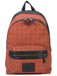 Coach Diamond Print Academy Backpack Brown