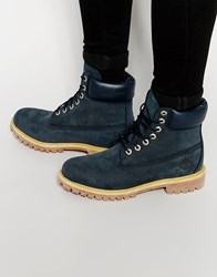 Timberland Icon 6 Inch Leather Premium Boots Blue