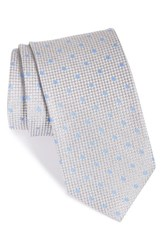 Men's John W. Nordstrom 'Shade Dot' Woven Silk Tie Grey
