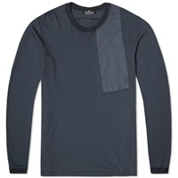 Stone Island Shadow Project Long Sleeve Nylon Pocket Tee Navy